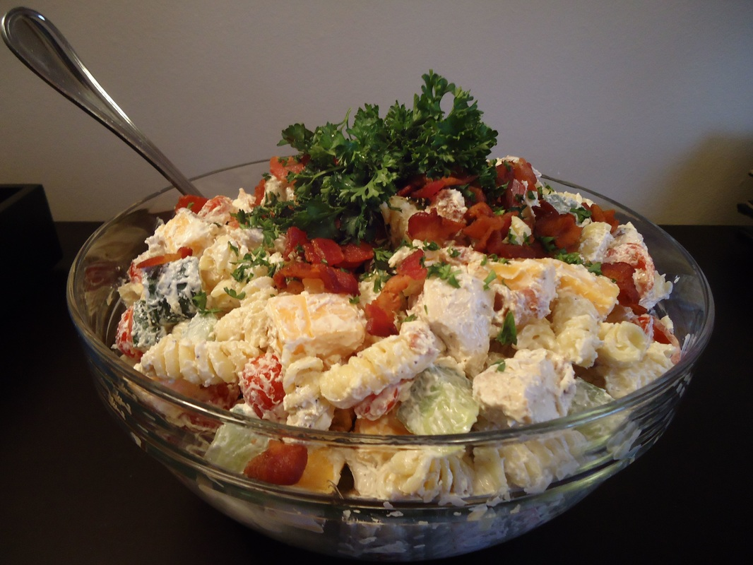 CHICKEN BACON PASTA SALAD
