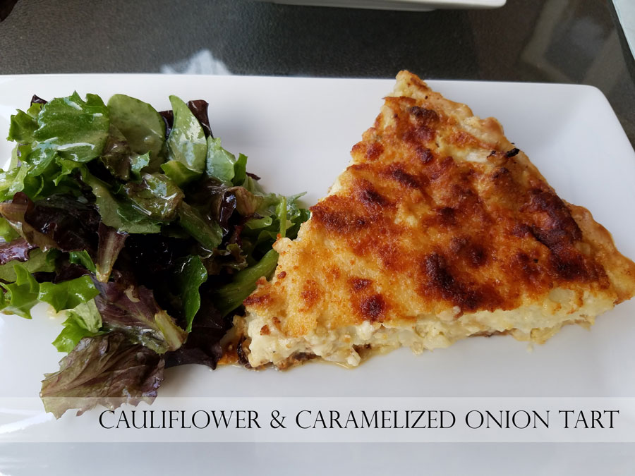CAULIFLOWER & CARAMELIZED ONION TART